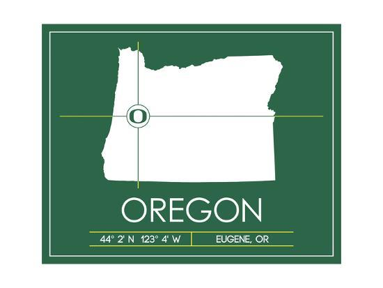 U Of Oregon Map.University Of Oregon State Map Posters By Lulu At Allposters Com