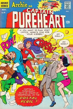 Archie Comics Retro: Captain Pureheart Comic Book Cover No.6 (Aged)