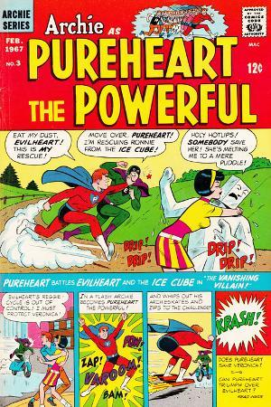 Archie Comics Retro: Pureheart The Powerful Comic Book Cover No.3 (Aged)