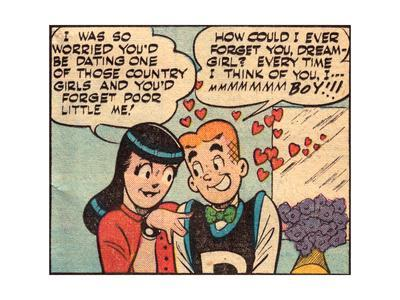 Archie Comics Retro: Archie and Veronica Comic Panel; Dream Girl (Aged)