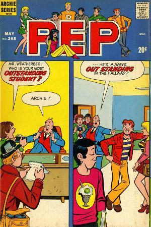 Archie Comics Retro: Pep Comic Book Cover No.265 (Aged)