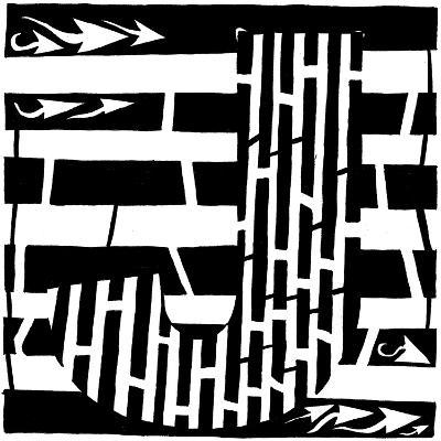 Maze of Uppercase J