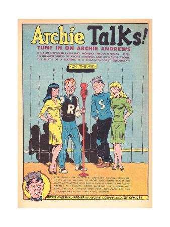 Archie Comics Retro: Archie Talks! Radio Broadcast Advertisement (Aged)