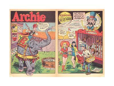 Archie Comics Retro: Archie Comic Spread Circus Serenade  (Aged)