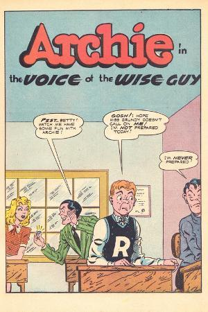 Archie Comics Retro: Archie Comic Panel The Voice of the Wise Guy (Aged)