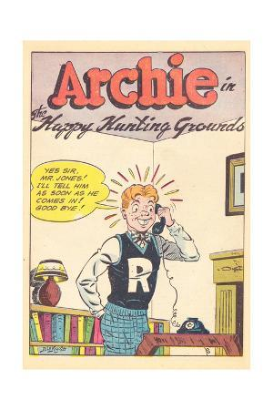 Archie Comics Retro: Archie Comic Panel Happy Hunting Grounds (Aged)