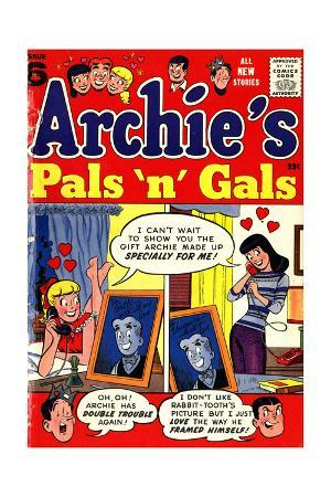 Archie Comics Retro: Archie's Pals 'n' Gals Comic Book Cover No.6 (Aged)