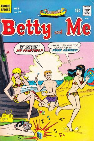 Archie Comics Retro: Betty and Me Comic Book Cover No.17 (Aged)