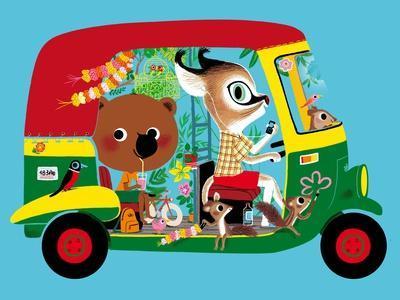 Mouk in the Indian Rickshaw