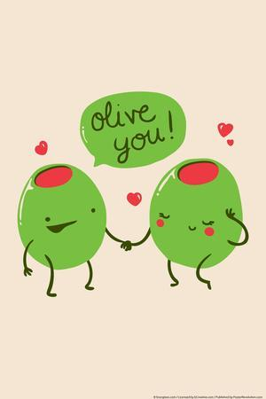 Olive You Snorg Tees Poster