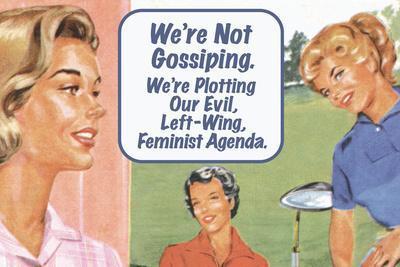 We're Not Gossiping We're Plotting Our Evil Feminist Agenda Funny Poster