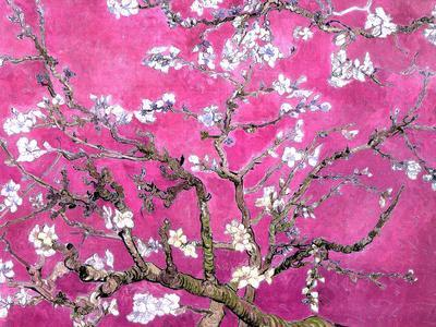 Van Gogh Almond Branches Pink Art Print Poster