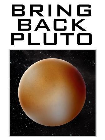 Bring Back Pluto Science Humor Poster