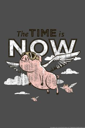 Pigs Flying Snorg Tees Poster