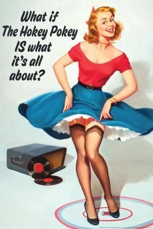 What If Hokey Pokey Is What It's All About Funny Poster