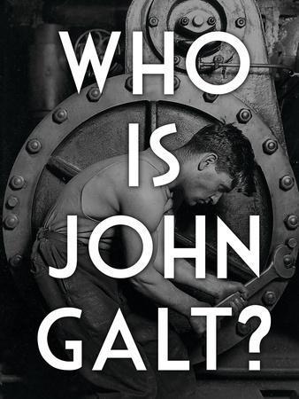 Atlas Shrugged Who is John Galt Art Poster Print