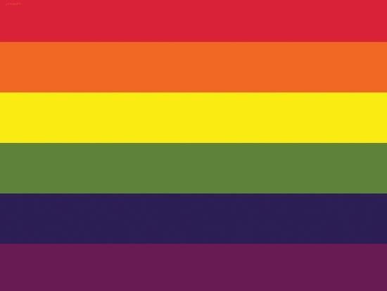 750ce75cd168 Gay Pride Rainbow Flag Print Poster Posters at AllPosters.com