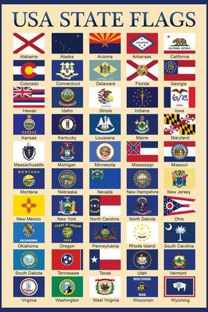 Sweet image throughout printable state flags