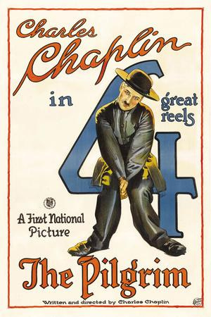 The Pilgrim Movie Charlie Chaplin Poster Print