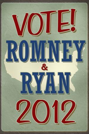 Vote Romney & Ryan 2012 Retro