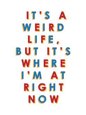It's a Weird Life, But it's Where I'm at Right Now