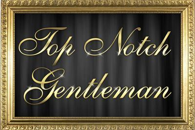 Top Notch Gentleman with Gilded Faux Frame Border