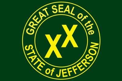 State of Jefferson Official Flag Print Poster
