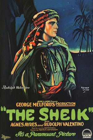 The Sheik Movie Rudolph Valentino Poster Print
