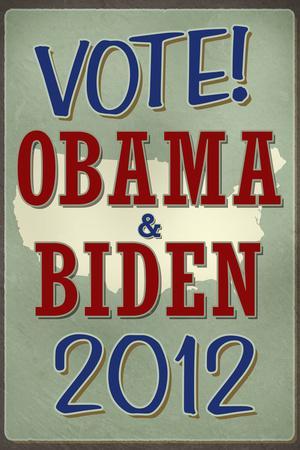 Vote Obama & Biden 2012 Retro