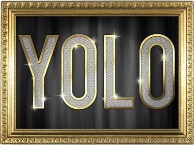 YOLO Bling Faux Frame