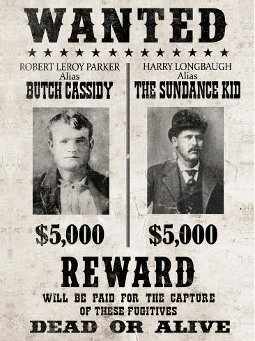 Butch Cassidy /& The Sundance Kid A4 Wanted Poster with choice of frame