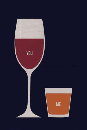 You'll Be My Glass Of Wine. I'll Be Your Shot Of Whiskey.
