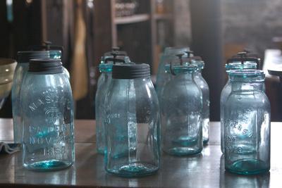 Vintage Quaker Mason Canning Jars Photo Poster