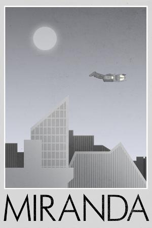 Miranda Retro Travel Poster