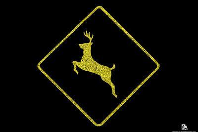 National Parks Deer Crossing Text Poster