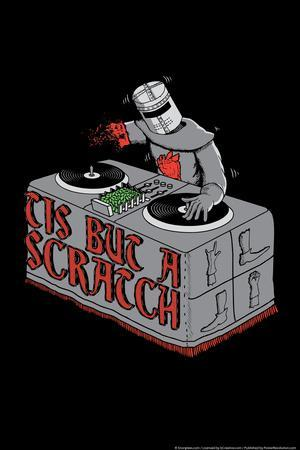 Tis But A Scratch Snorg Tees Poster