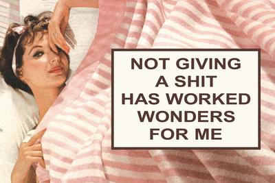 Not Giving A Shit Has Worked Wonders For Me Funny Poster