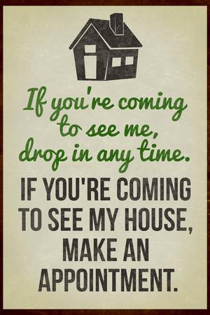 Coming To See My House Poster