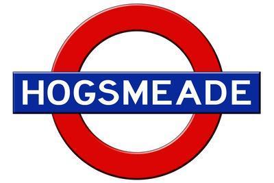 Hogsmeade Subway Sign Travel Poster