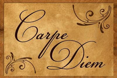 Carpe Diem Seize the Day Wood Carving Poster