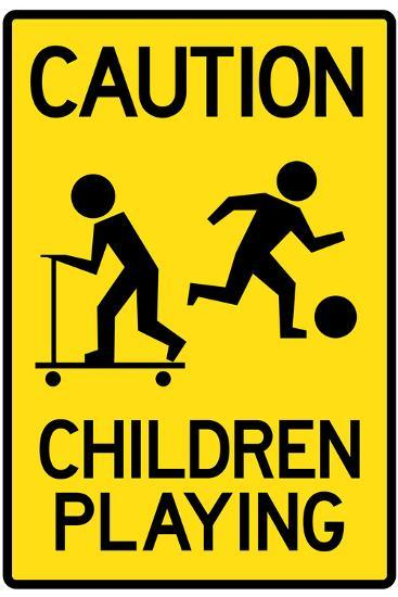 Caution Children Playing Sign Poster Poster At Allposters Com
