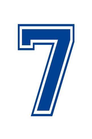 Varsity Number 7  Seven  Make Your Own Banner Sign Poster