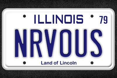 NRVOUS License Plate Movie Poster