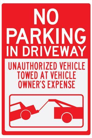 No Parking In Driveway Sign Poster