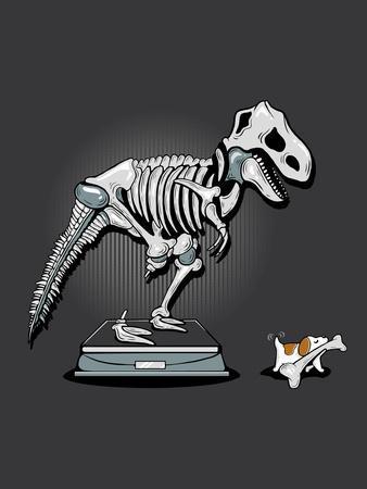 Mine! - Cute Dog and Dinosaur