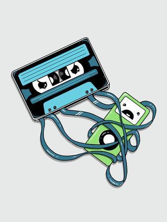 The Comeback - Cassette Tape Attacking iPod