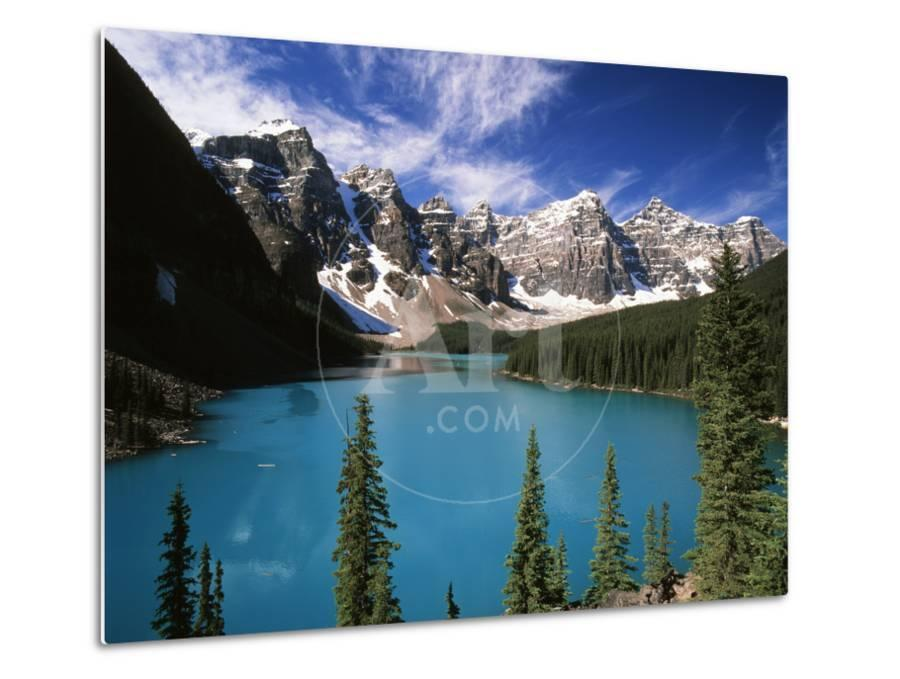 Wenkchemna Peaks Reflected In Moraine Lake Banff National Park Alberta Canada