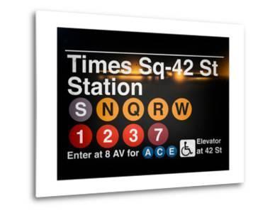 Subway Times Square - 42 Street Station - Subway Sign - Manhattan, New York City, USA
