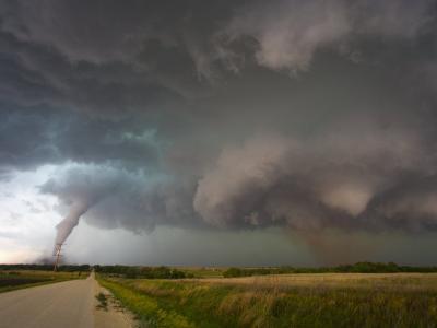 Two Tornadoes Near Zurich, Kansas