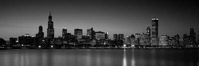 Dusk, Skyline, Chicago, Illinois, USA